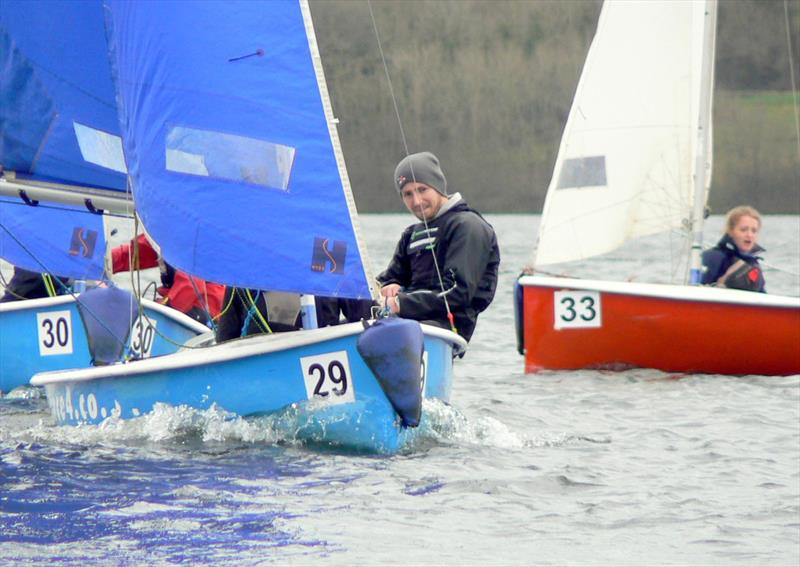 Exeter Excalibur team racing at Roadford Lake - photo © Exeter University Sailing Club