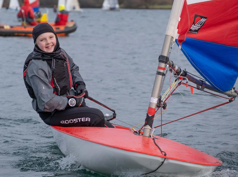 Notts County Cooler 2019 Junior Winner Sam Grayton photo copyright David Eberlin taken at Notts County Sailing Club and featuring the Topper class