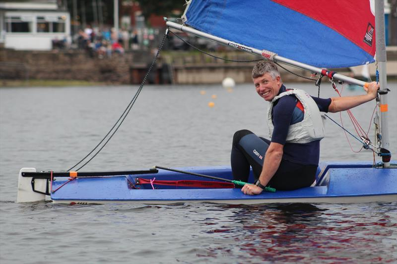 Hollingworth Lake Junior Regatta Week - Stuart Bithell... perhaps a little big for the boat - photo © Rhiann Bramwell