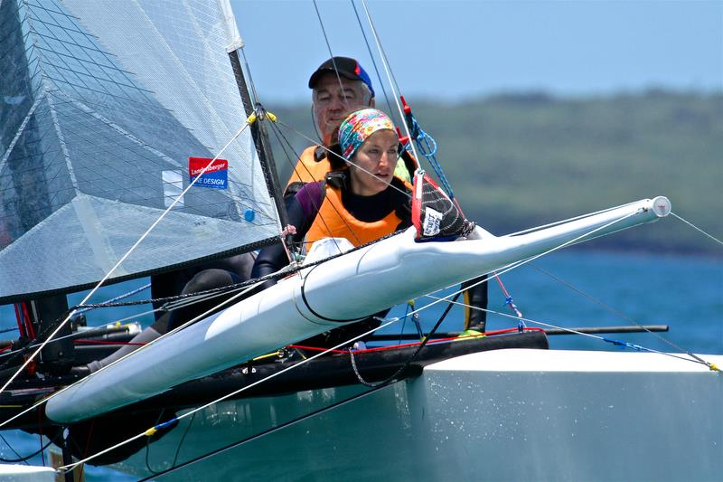 Dieter and Silvia Salzmann (GER) - Race 5 - Int Tornado Worlds - Day 3, presented by Candida, January 7, - photo © Richard Gladwell