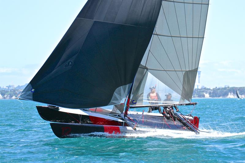 Brett Burvill and Max Puttman (AUS) - Race 5 finish - Int Tornado Worlds - Day 3, presented by Candida, January 7, - photo © Richard Gladwell