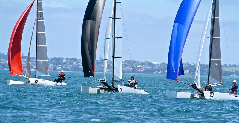 Back markers contesting the finish of Race 5 - Int Tornado Worlds - Day 3, presented by Candida, January 7, - photo © Richard Gladwell