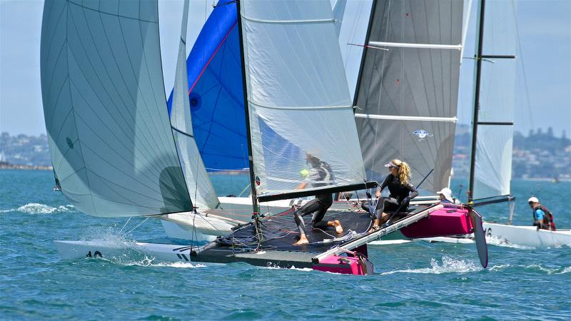 Helena Sanderson and Jack Honey (NZL) - Youth Mixed - Race 5 Int Tornado Worlds - Day 3, presented by Candida, January 7, - photo © Richard Gladwell