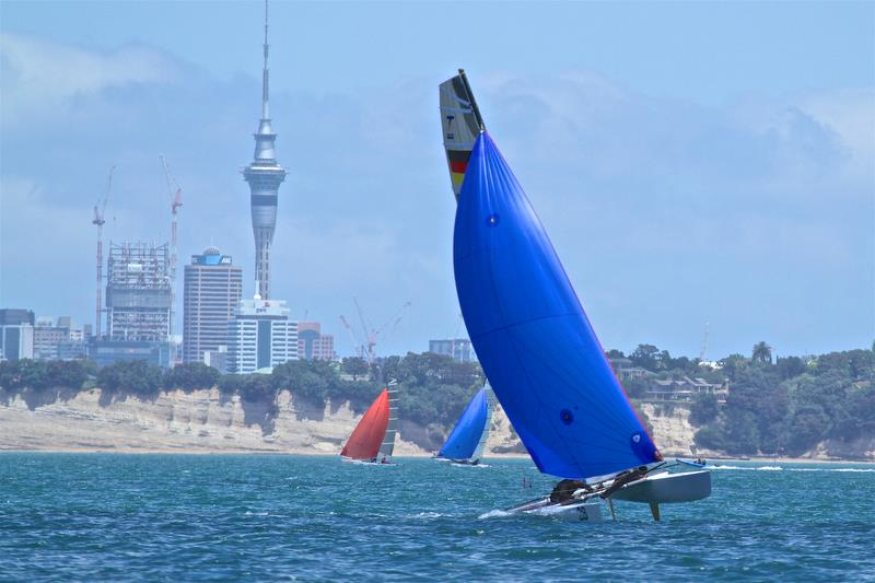 Estela Jentsch and Daniel Brown (GER) heading for a win in race 5 - Int Tornado Worlds - Day 3, presented by Candida, January 7, - photo © Richard Gladwell