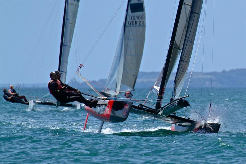 Brett Burvill and Max Puttman (AUS) - Mark 1 - Race 6 - Int Tornado Worlds - Day 3, presented by Candida, January 7, - photo © Richard Gladwell