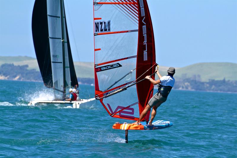 Aaron McIntish (121) on Windfoils at the 2091 Tornado Worlds - photo © Richard Gladwell