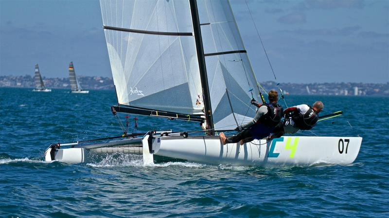 Dave Lineman and Karl Taylor (NZL) - race 6 - Int Tornado Worlds - Day 3, presented by Candida, January 7, - photo © Richard Gladwell