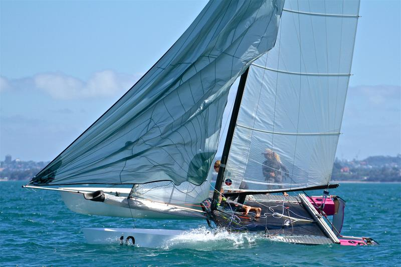 Helena Sanderson and Jack Honey have a bit on just before the finish of Race 6 - Int Tornado Worlds - Day 3, presented by Candida, January 7, - photo © Richard Gladwell