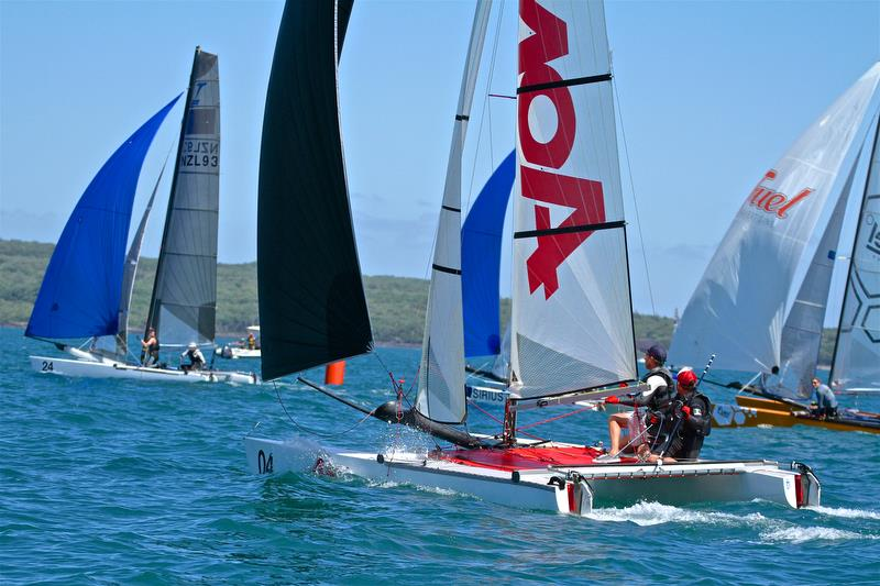 Julian Tankard and Simon Cooke (NZL) - Race 6 finish - Int Tornado Worlds - Day 3, presented by Candida, January 7, - photo © Richard Gladwell