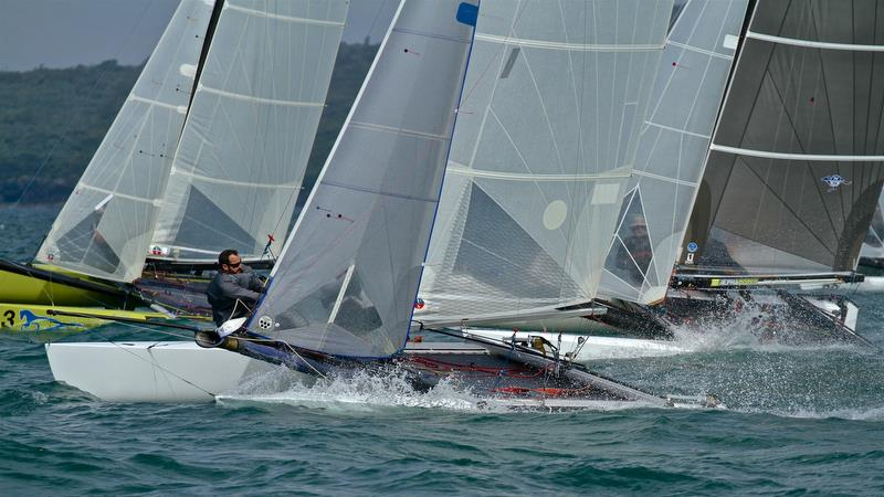 Race 8 start - Int Tornado Worlds - Day 4, presented by Candida, January 9, 2019 photo copyright Richard Gladwell taken at Takapuna Boating Club and featuring the Tornado class