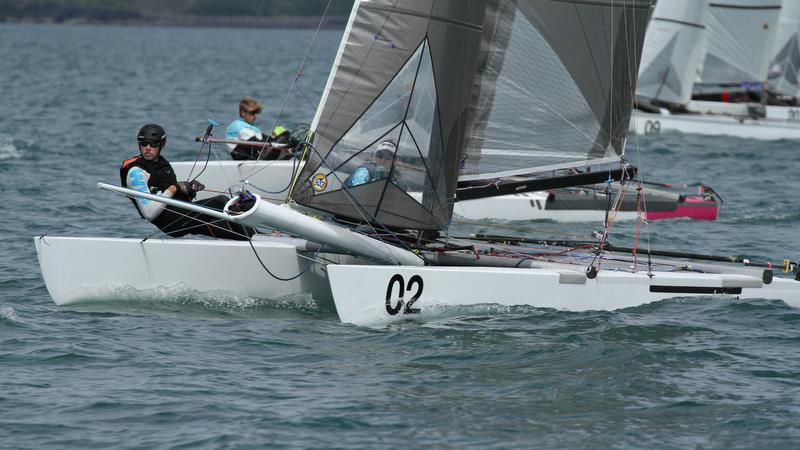 Recalled start - Race 7 - Int Tornado Worlds - Day 4, presented by Candida, January 9, 2019 photo copyright Richard Gladwell taken at Takapuna Boating Club and featuring the Tornado class