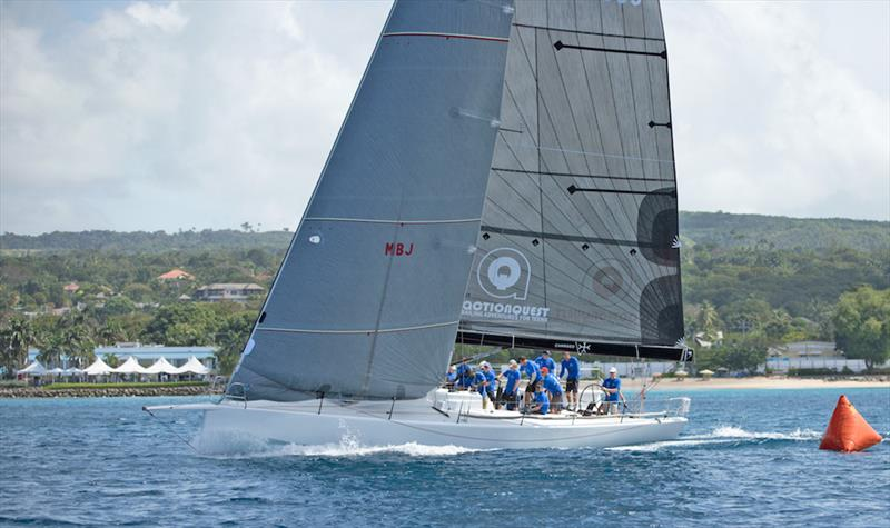 TP52 Conviction on her way to second place in CSA Racing Class - Barbados Sailing Week 2018 - photo © Peter Marshall / BSW