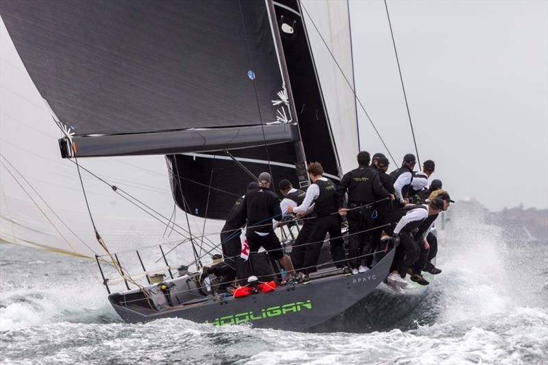 TP52 Hooligan at full throttle - 2018 Sydney Harbour Regatta - photo © Andrea Francolini / MHYC