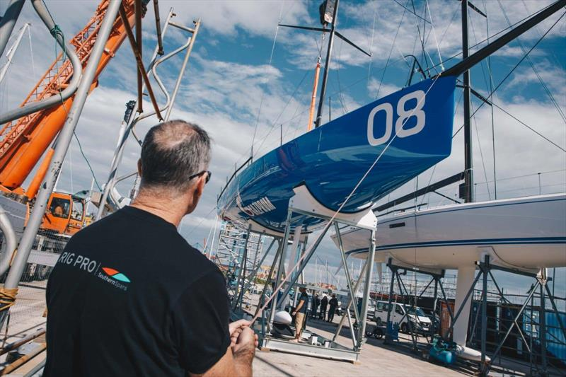 Southern Spars and Future Fibres work with Bronenosec Sailing Team on the design and construction of their new 52 Super Series boat rig package.  - photo © Southern Spars
