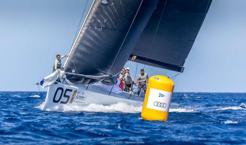 Sled leads the provisional classification - Audi 52 Super Series Sailing Week 2019 - photo © 52 Super Series / Martinez Studio