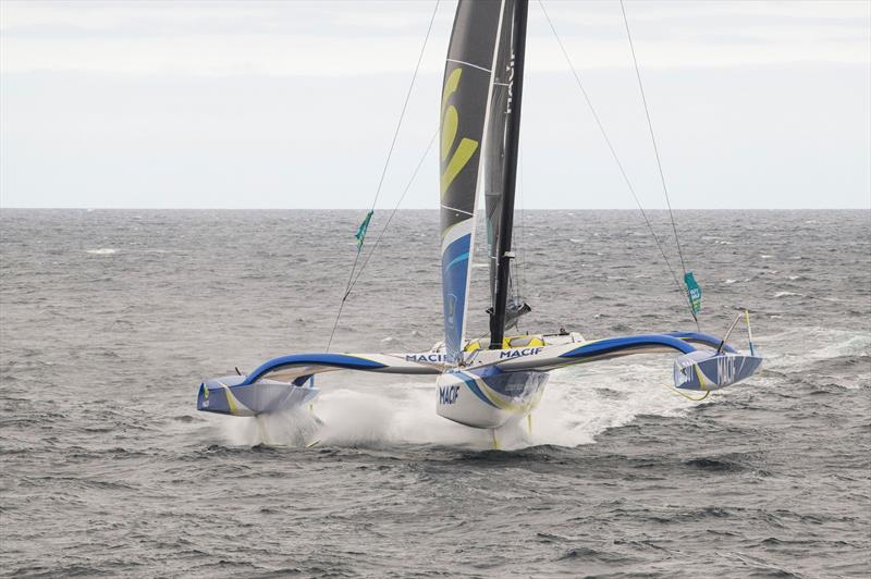 Francois Gabart on the maxi trimaran MACIF training off Belle Ile ahead of The Route du Rhum - Destination Guadeloupe - photo © Vincent Curutchet / ALéA / Macif