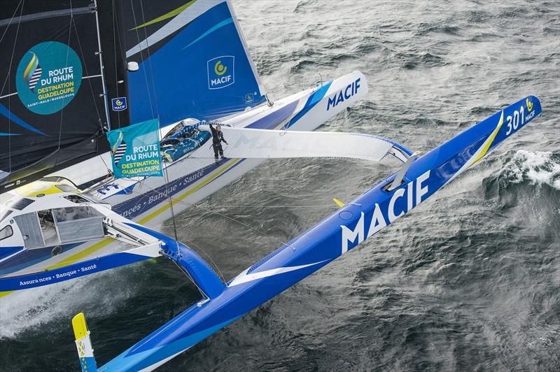 François Gabart on MACIF during the Route du Rhum-Destination Guadeloupe - photo © Vincent Curutchet