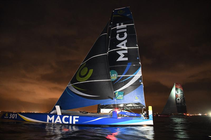 Epic battle between the two French skippers, François Gabart (MACIF) and Francis Joyon (IDEC Sport) in the Route du Rhum-Destination Guadeloupe - photo © Yvan Zedda