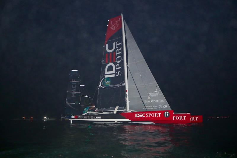 Just 0.1nm separated the two ULTIME boats, IDEC Sport and MACIF as they approached the finish line on Sunday evening in the Route du Rhum-Destination Guadeloupe - photo © Alexis Courcoux