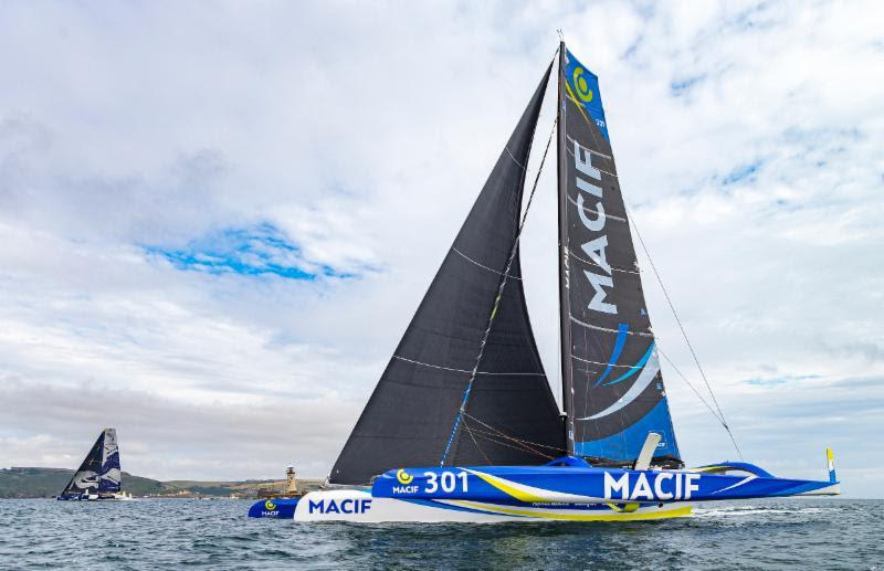Beaten by a breath at the finish - MACIF, the leader since rounding the Fastnet Rock was pipped at the post by her arch-rival Maxi Edmond de Rothschild in the 2019 Rolex Fastnet Race - photo © Rolex / Carlo Borlenghi