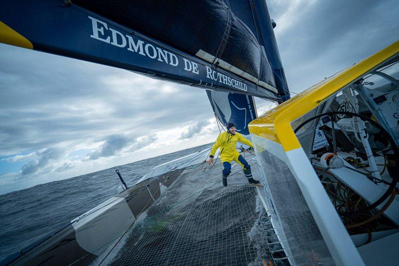 Onboard the Maxi Edmond de Rothschild during the 2019 Brest Atlantiques - photo © Yann Riou / PolaRYSE / Gitana SA