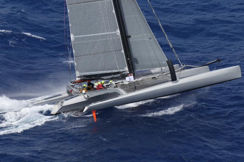 Peter Aschenbrenner's 63' trimaran Paradox is blasting round the course of the RORC Caribbean 600 - photo © RORC / Tim Wright / www.photoaction.com