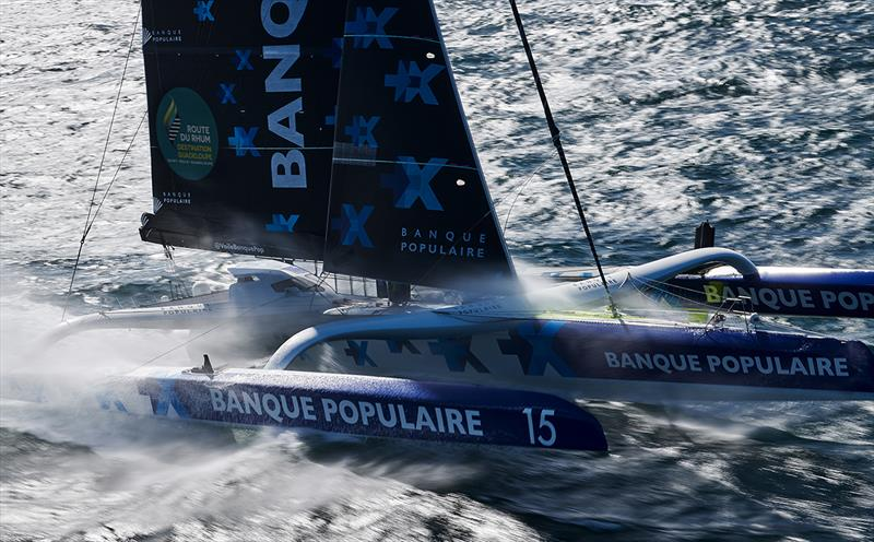 Armel Le Cleac'h on Maxi Solo Banque Populaire IX - 2018 Route du Rhum-Destination Guadeloupe - photo © Yvan Zedda