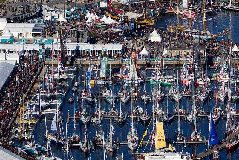 123 boats in the race village in Saint Malo ahead of the Route du Rhum-Destination Guadeloupe start on Sunday. - photo © ALEXIS COURCOUX