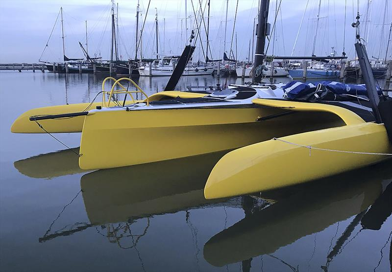 TF10 Trimaran #5 begins sea trials - photo © DNA