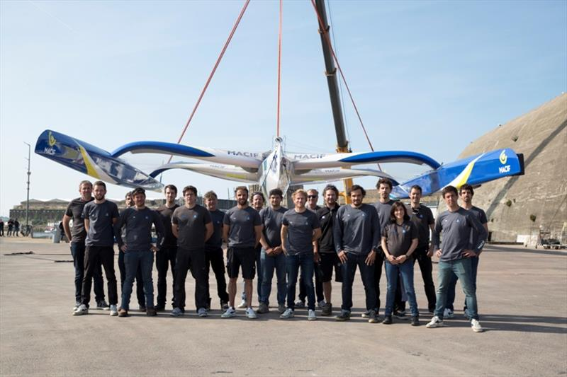 MACIF Trimaran skipper and crew - photo © Alexis Courcoux / Macif