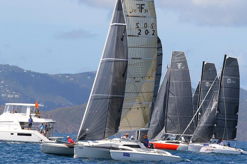 Six Corsair trimarans have entered the 2020 BVI Spring Regatta & Sailing Festival.  Class winner in 2019 - Mark Sanders Corsair 31 Island Hops (BVI)  - photo © www.ingridabery.com