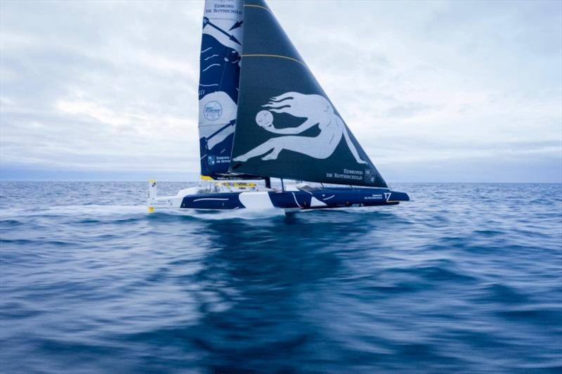 Maxi Edmond de Rothschild in the Brest Atlantiques - photo © Yann Riou / Polaryse / Gitana SA
