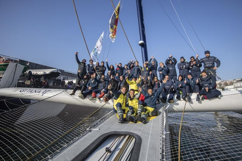 Maxi Edmond de Rothschild in the Brest Atlantiques - photo © Eloi Stichelbaut / PolaRYSE / GITANA SA