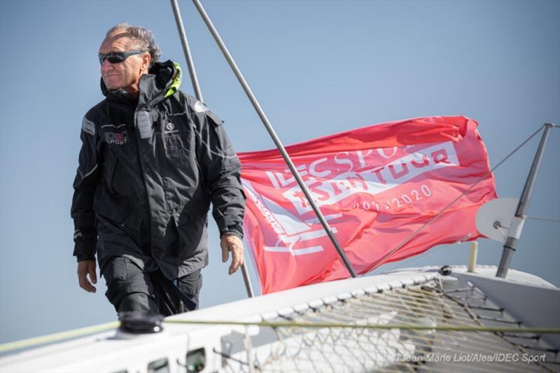 Francis Joyon aboard maxi-trimaran IDEC Sport - photo © Jean-Marie Liot / Alea / IDEC Sport