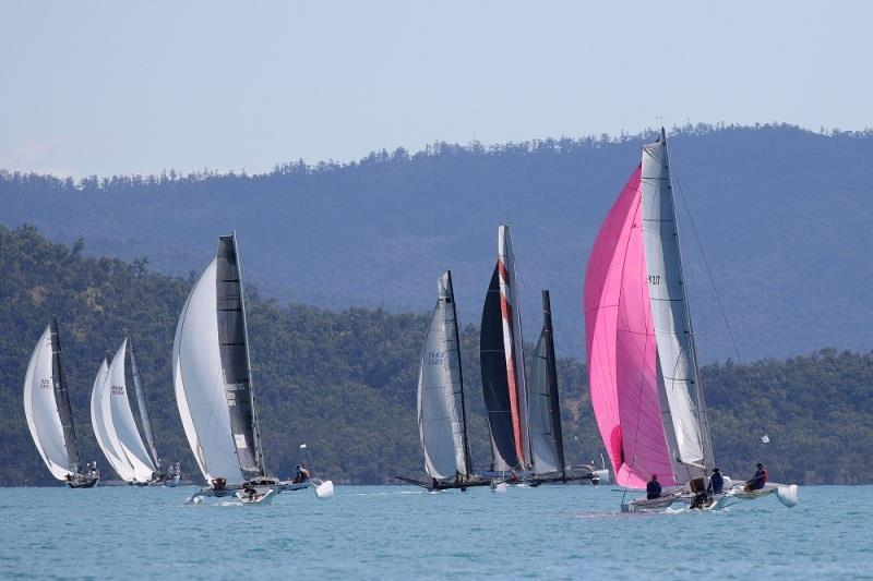 Multihull Racing down the run - 2020 Airlie Beach Race Week day 5 - photo © Shirley Wodson / ABRW