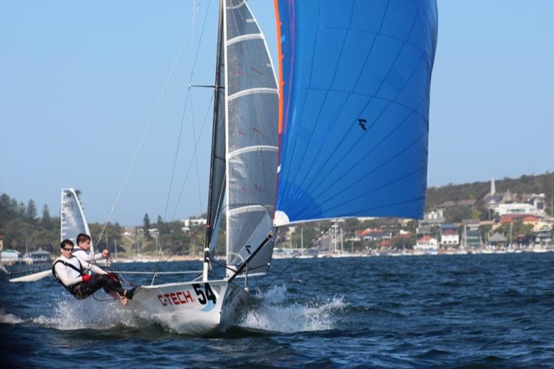 C-Tech won Race 5 - 12ft Skiff Interdominion photo copyright John Williams taken at Sydney Flying Squadron and featuring the 12ft Skiff class