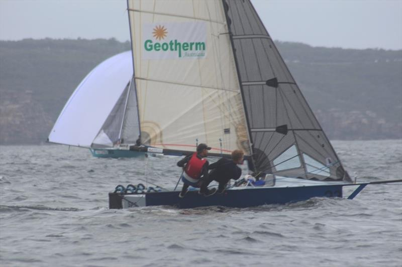 Geotherm in second now - 2019 12ft Skiff Interdominion Championship, Day 4 - photo © John Williams
