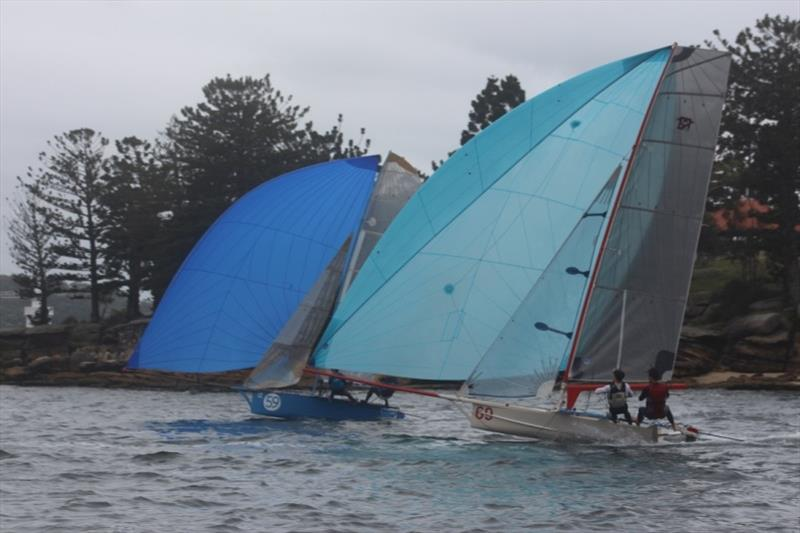 Giddy Up and Tank Girl go hard at it - 2019 12ft Skiff Interdominion Championship, Day 4 - photo © John Williams