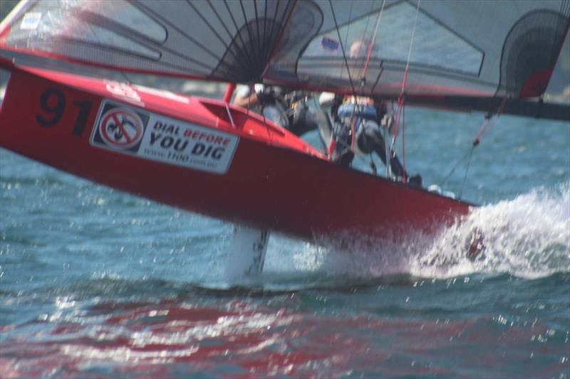 Red Energy romping - 2019 12ft Skiff Interdominion Championship, Day 4 - photo © John Williams
