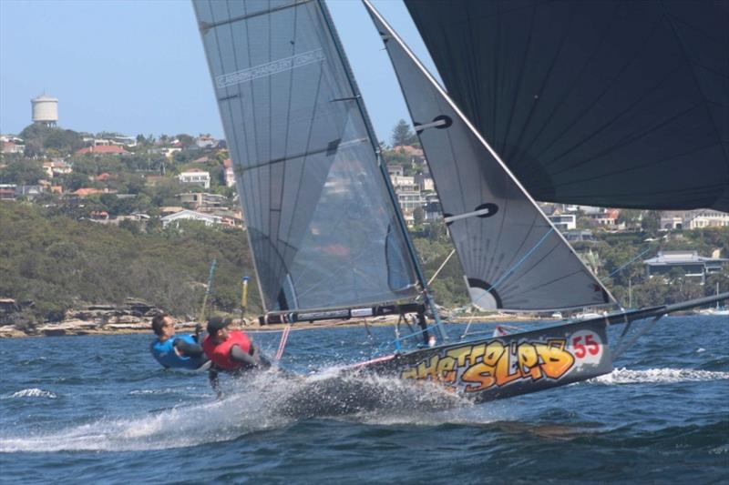 Carbon Chandlery couldn't be caught in Race 8 - 12ft Skiff Interdominion Championship, Day 5 photo copyright John Williams taken at Sydney Flying Squadron and featuring the 12ft Skiff class