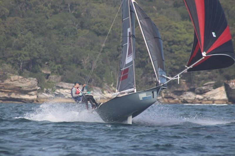 Southport Sails on the boil - 12ft Skiff Interdominion Championship, Day 5 photo copyright John Williams taken at Sydney Flying Squadron and featuring the 12ft Skiff class