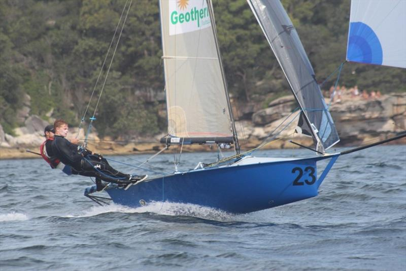 Geotherm won the final race and was second overall - 12ft Skiff Interdominion Championship 2019 photo copyright John Williams taken at Sydney Flying Squadron and featuring the 12ft Skiff class
