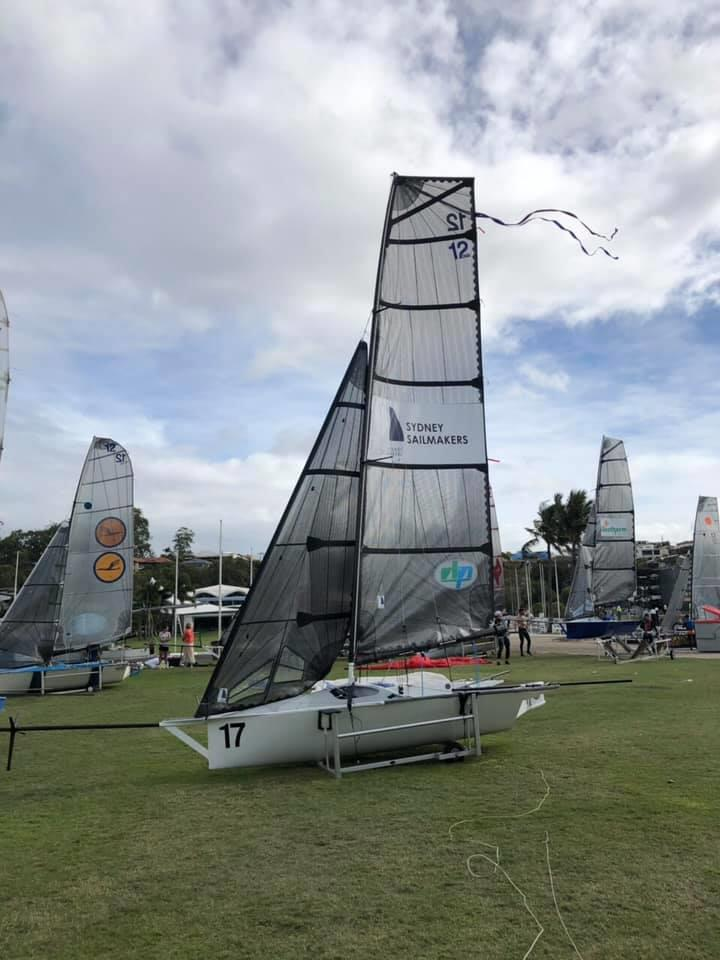 Sydney Sailmakers - 2019 Australian 12ft Skiff Championships photo copyright Nick Press taken at Royal Queensland Yacht Squadron and featuring the 12ft Skiff class