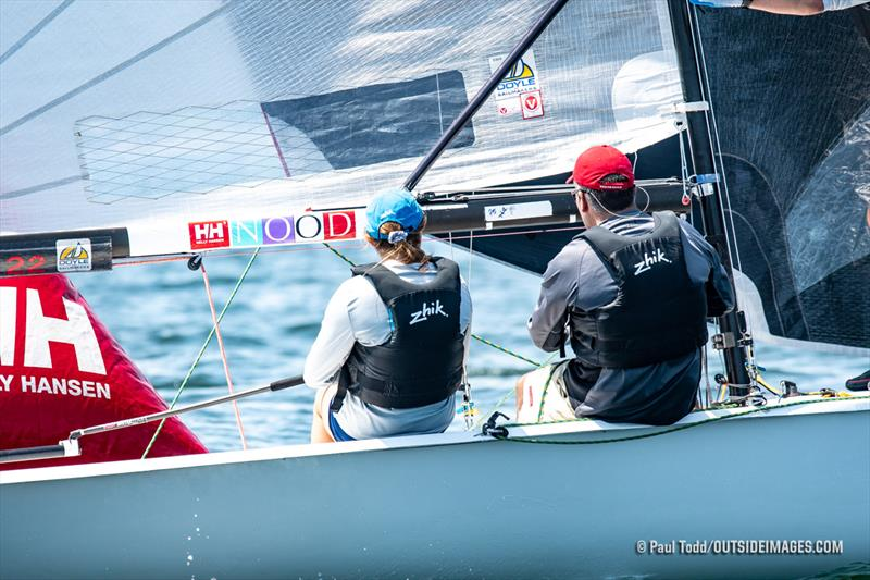 Cam Farrah and her father, Cliff posted four top-five finishes to stand second overall in the Viper 640 fleet - 2019 Helly Hansen NOOD Regatta Marblehead - photo © Paul Todd / www.outsideimages.com