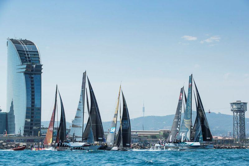 Act 4, Extreme Sailing Series Barcelona 2017 - day three - Fleet - photo © Lloyd Images