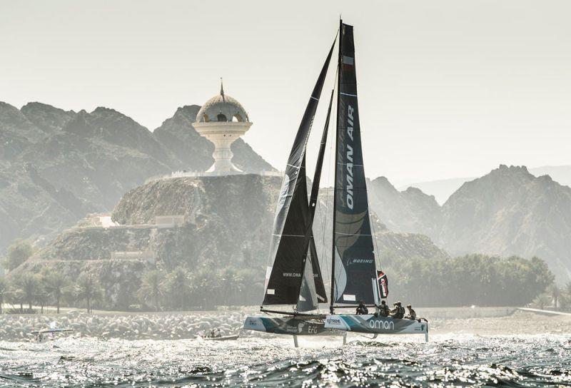 Act 1, Extreme Sailing Series Muscat 2017 - Day one - Oman Air - photo © Lloyd Images