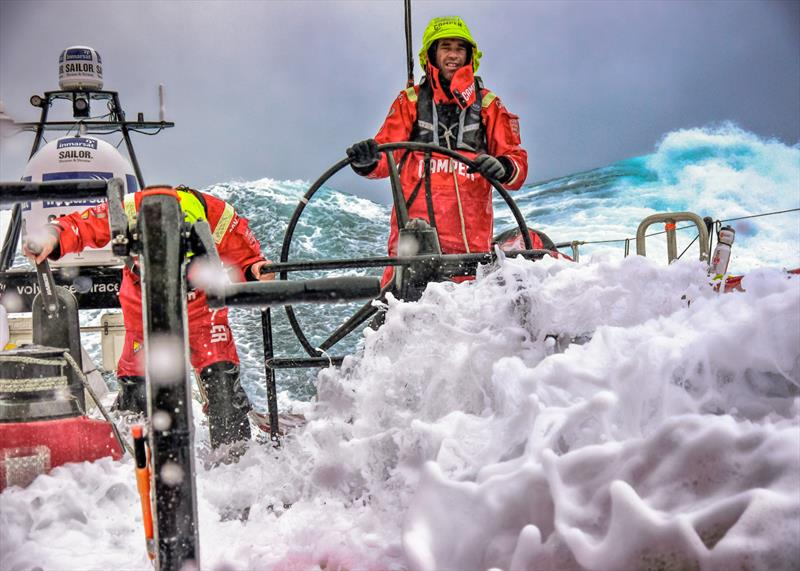 Stu Bannatyne on CAMPER during the last Volvo Ocean Race - photo © Volvo Ocean Race