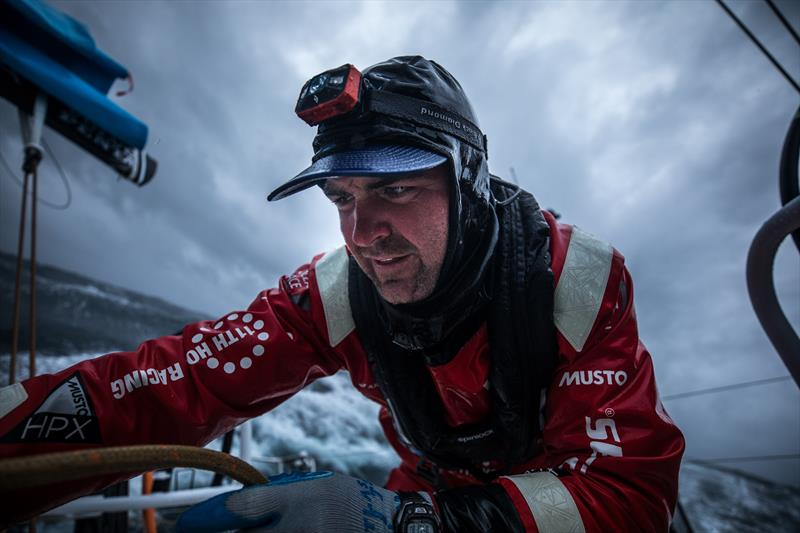 Welcome to the Southern Ocean: Charlie Enright on board Vestas 11th Hour during Leg 3 of the Volvo Ocean Race - photo © Sam Greenfield / Volvo Ocean Race