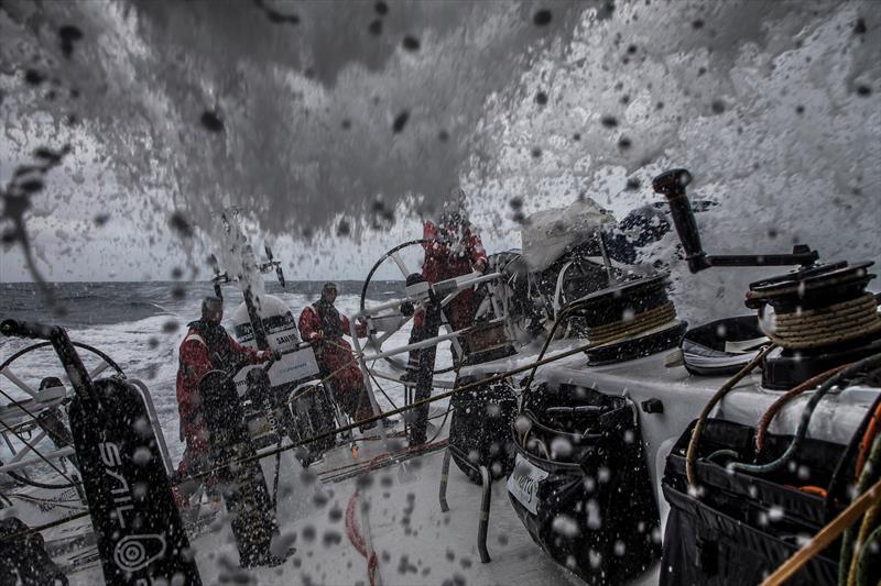 Wet down here on board Sun Hung Kai / Scallywag during Volvo Ocean Race Leg 3 - photo © Konrad Frost / Volvo Ocean Race