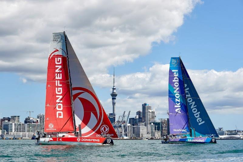 Team AkzoNobel finish 2nd in the New Zealand Herald In-Port Race - photo © Thierry Martinez / team AkzoNobel